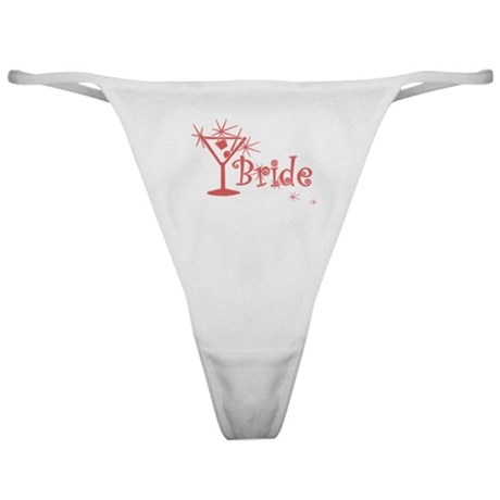 Red Curly Martini Bride Classic Thong