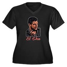 El Che - Women's Plus Size V-Neck Dark T-Shirt