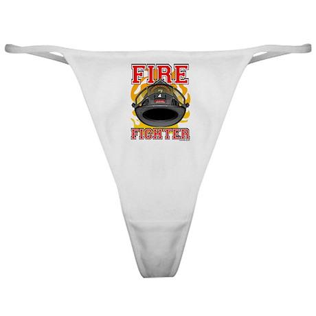 Fire Fighter - Black Helmet Classic Thong