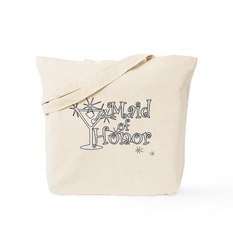 White C Martini Maid Honor Tote Bag