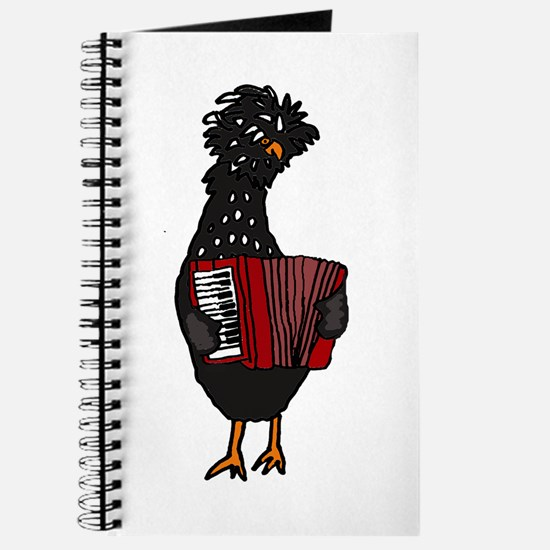 Chicken Playing Accordion Journal