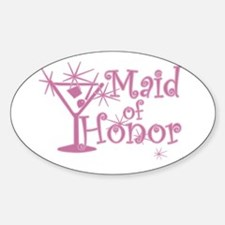 Pink C Martini Maid Honor Oval Decal