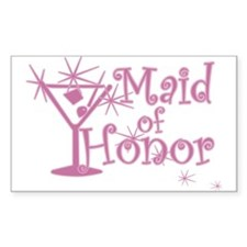 Pink C Martini Maid Honor Rectangle Decal