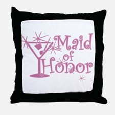 Pink C Martini Maid Honor Throw Pillow