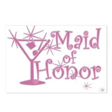 Pink C Martini Maid Honor Postcards (Package of 8)