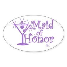 Purple C Martini Maid Honor Oval Decal