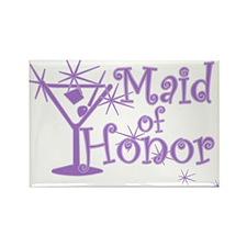 Purple C Martini Maid Honor Rectangle Magnet
