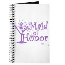 Purple C Martini Maid Honor Journal