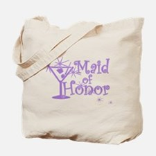 Purple C Martini Maid Honor Tote Bag