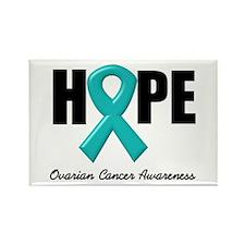 Hope Ovarian Cancer Rectangle Magnet