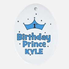1st Birthday Prince - Kyle! Oval Ornament