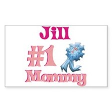 Jill - #1 Mommy Rectangle Decal