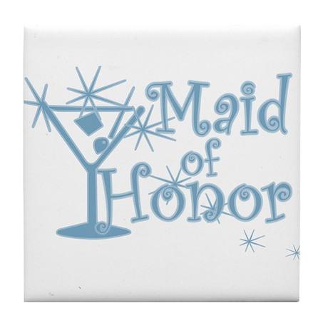 Blue C Martini Maid Honor Tile Coaster