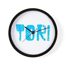 Tori Faded (Blue) Wall Clock