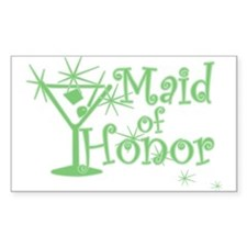 Green C Martini Maid Honor Rectangle Decal