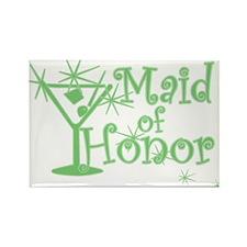 Green C Martini Maid Honor Rectangle Magnet