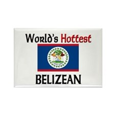 World's Hottest Belizean Rectangle Magnet