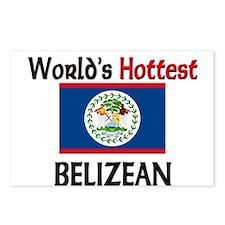 World's Hottest Belizean Postcards (Package of 8)
