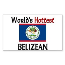 World's Hottest Belizean Rectangle Decal