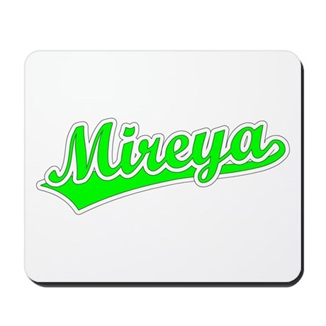 Retro Mireya (Green) Mousepad