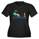 Sita Women's Plus Size V-Neck Dark T-Shirt