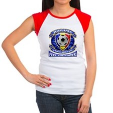 Romania Soccer Power Women's Cap Sleeve T-Shirt
