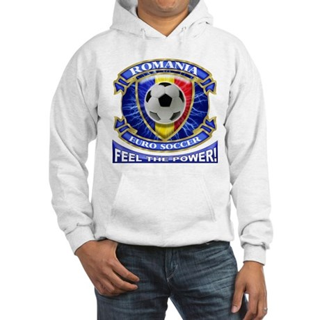 Romania Soccer Power Hooded Sweatshirt