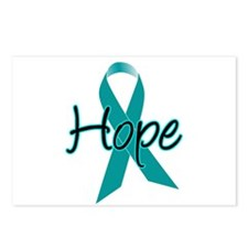 Hope Teal Ribbon Postcards (Package of 8)