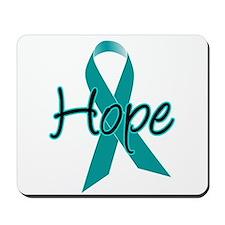 Hope Teal Ribbon Mousepad