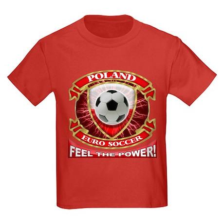 Poland Soccer Power Kids Dark T-Shirt