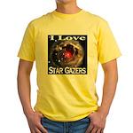 I Love Star Gazers Yellow T-Shirt