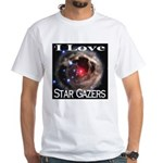 I Love Star Gazers White T-Shirt