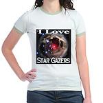 I Love Star Gazers Jr. Ringer T-Shirt