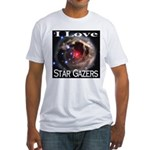 I Love Star Gazers Fitted T-Shirt