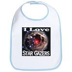 I Love Star Gazers Bib