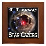 I Love Star Gazers Framed Tile