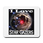 I Love Star Gazers Mousepad