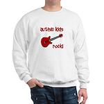 Autistic Kids Rock! Red Guit Sweatshirt
