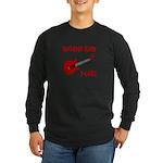 Autistic Kids Rock! Red Guit Long Sleeve Dark T-Sh