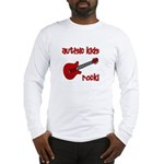 Autistic Kids Rock! Red Guit Long Sleeve T-Shirt