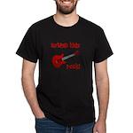 Autistic Kids Rock! Red Guit Dark T-Shirt