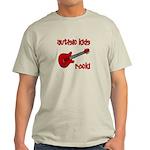 Autistic Kids Rock! Red Guit Light T-Shirt