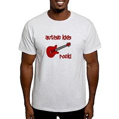 Autistic Kids Rock! Red Guit T-Shirt