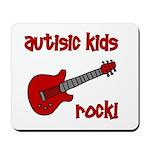Autistic Kids Rock! Red Guit Mousepad