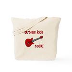 Autistic Kids Rock! Red Guit Tote Bag