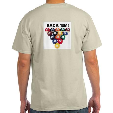 RACK 'EM! Ash Grey T-Shirt