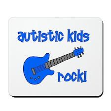 Autistic Kids Rock! Blue Guit Mousepad