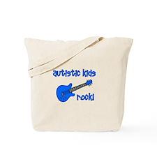 Autistic Kids Rock! Blue Guit Tote Bag