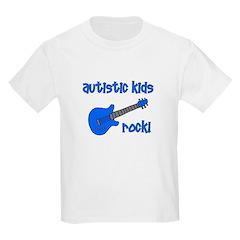 Autistic Kids Rock! Blue Guit T-Shirt