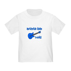 Autistic Kids Rock! Blue Guit T